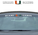 Miami Hurricanes Decal 35x4 Windshield