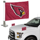 Arizona Cardinals Flag Set 2 Piece Ambassador Style