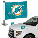 Miami Dolphins Flag Set 2 Piece Ambassador Style