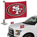 San Francisco 49ers Flag Set 2 Piece Ambassador Style