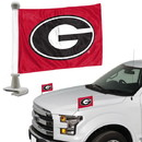 Georgia Bulldogs Flag Set 2 Piece Ambassador Style