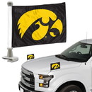 Iowa Hawkeyes Flag Set 2 Piece Ambassador Style