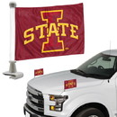 Iowa State Cyclones Flag Set 2 Piece Ambassador Style