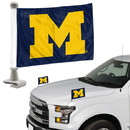 Michigan Wolverines Flag Set 2 Piece Ambassador Style