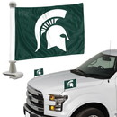 Michigan State Spartans Flag Set 2 Piece Ambassador Style