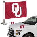 Oklahoma Sooners Flag Set 2 Piece Ambassador Style