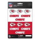 Kansas City Chiefs Decal Set Mini 12 Pack
