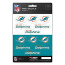 Miami Dolphins Decal Set Mini 12 Pack