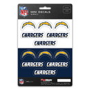 Los Angeles Chargers Decal Set Mini 12 Pack