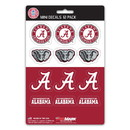 Alabama Crimson Tide Decal Set Mini 12 Pack