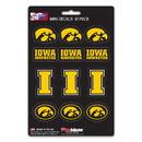 Iowa Hawkeyes Decal Set Mini 12 Pack