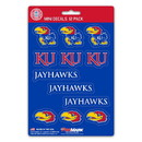 Kansas Jayhawks Decal Set Mini 12 Pack
