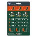 Miami Hurricanes Decal Set Mini 12 Pack