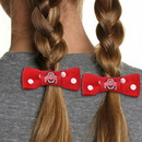 Ohio State Buckeyes Bow Pigtail Holder - Old Logo