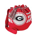 Georgia Bulldogs Ripple Drawstring Bucket Bag