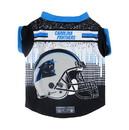 Carolina Panthers Pet Performance Tee Shirt Size L