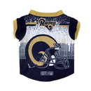 Los Angeles Rams Pet Performance Tee Shirt Size XL