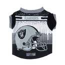 Oakland Raiders Pet Performance Tee Shirt Size XL