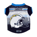 Los Angeles Chargers Pet Performance Tee Shirt Size M