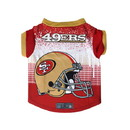San Francisco 49ers Pet Performance Tee Shirt Size XS