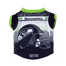 Seattle Seahawks Pet Performance Tee Shirt Size L