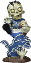 Detroit Lions Zombie On Logo Figurine