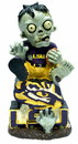LSU Tigers Zombie On Logo with Football Figurine