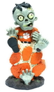 Clemson Tigers Zombie On Logo with Football Figurine