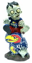 Kansas Jayhawks Zombie On Logo with Football Figurine