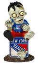 New York Rangers Zombie Figurine - On Logo