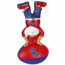 Mississippi Rebels Garden Gnome - Handstand On Football
