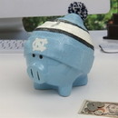 North Carolina Tar Heels Piggy Bank - Large With Hat