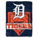 Detroit Tigers Blanket 60x80 Raschel Home Plate Design