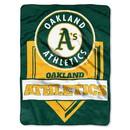 Oakland Athletics Blanket 60x80 Raschel Home Plate Design Special Order
