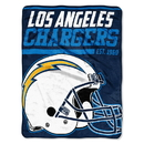 Los Angeles Chargers Blanket 46x60 Micro Raschel 40 Yard Dash Design Rolled Special Order