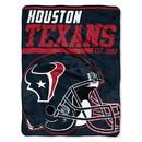 Houston Texans Blanket 46x60 Micro Raschel 40 Yard Dash Design Rolled