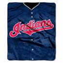 Cleveland Indians Blanket 50x60 Raschel Jersey Design
