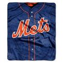 New York Mets Blanket 50x60 Raschel Jersey Design