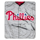 Philadelphia Phillies Blanket 50x60 Raschel Jersey Design