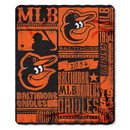 Baltimore Orioles Blanket 50x60 Fleece Strength Design