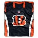 Cincinnati Bengals Blanket 50x60 Raschel Jersey Design