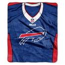 Buffalo Bills Blanket 50x60 Raschel Jersey Design