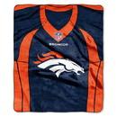 Denver Broncos Blanket 50x60 Raschel Jersey Design