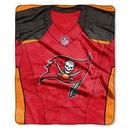 Tampa Bay Buccaneers Blanket 50x60 Raschel Jersey Design