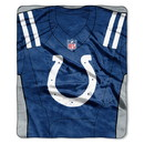Indianapolis Colts Blanket 50x60 Raschel Jersey Design