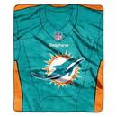 Miami Dolphins Blanket 50x60 Raschel Jersey Design