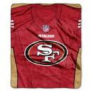 San Francisco 49ers Blanket 50x60 Raschel Jersey Design