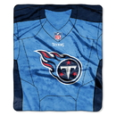 Tennessee Titans Blanket 50x60 Raschel Jersey Design
