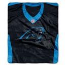 Carolina Panthers Blanket 50x60 Raschel Jersey Design