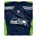 Seattle Seahawks Blanket 50x60 Raschel Jersey Design